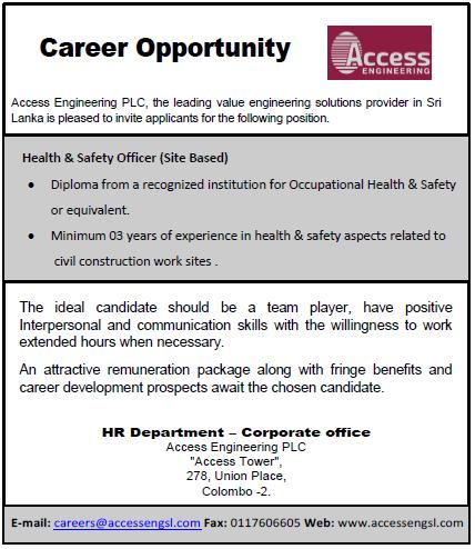 Health & Safety Officer (Site Based)